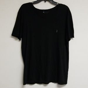 All Saints Black Scoop Neck Top Size Large